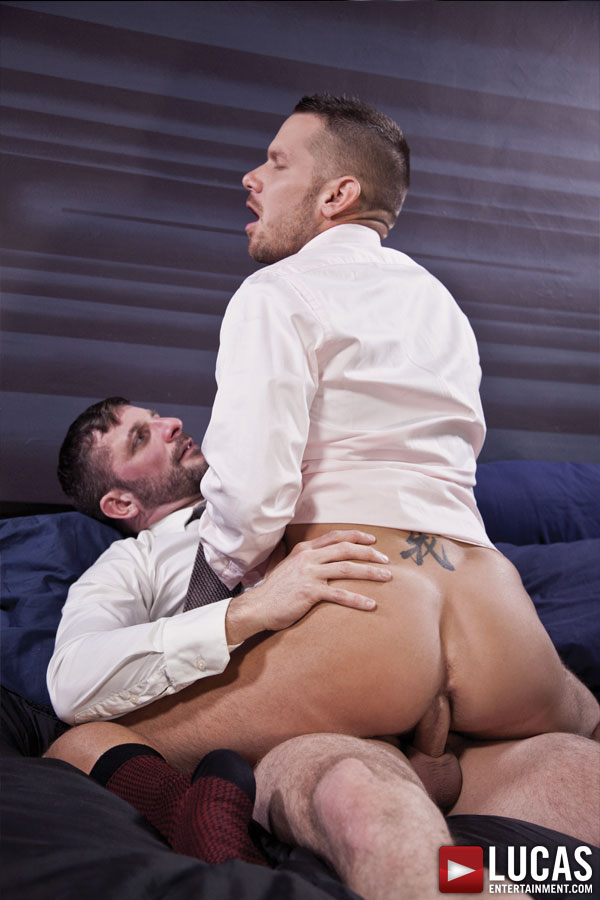 Morgan Black Bottoms for Shane Frost in a Suit - Gay Movies - Lucas Entertainment
