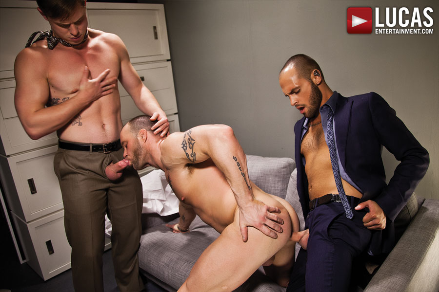 Gentlemen 12: Barebacking in the Boardroom - Gay Movies - Lucas Entertainment