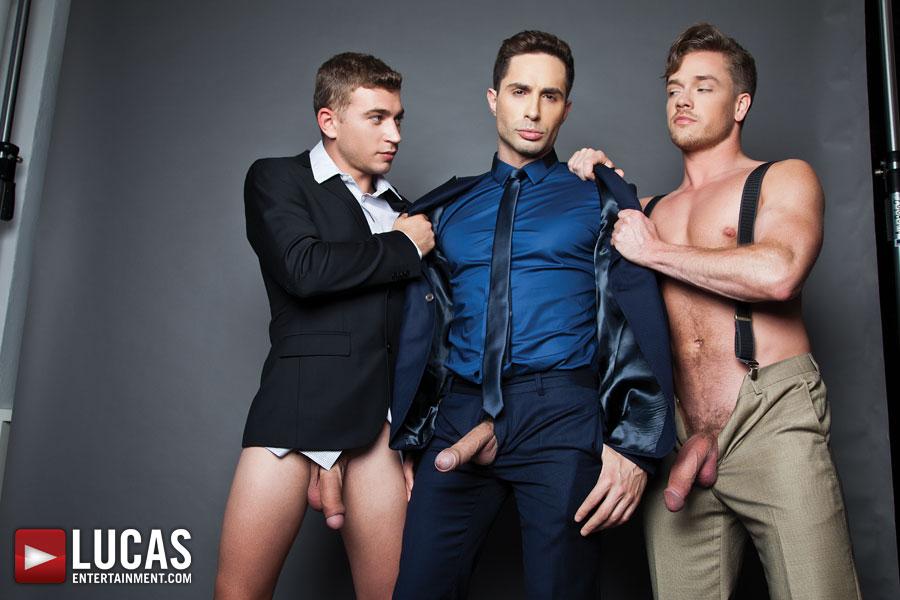 Gentlemen 12: Barebacking in the Boardroom - Gay Movies - Lucas Entertainment
