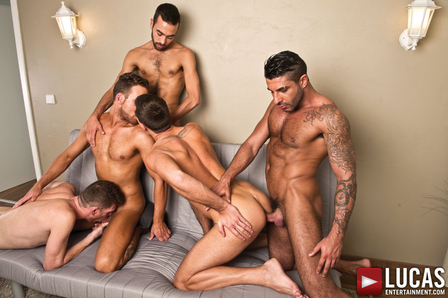 Theo Ford and Logan Moore Take Over the Bareback Sex Party - Gay Movies - Lucas Entertainment