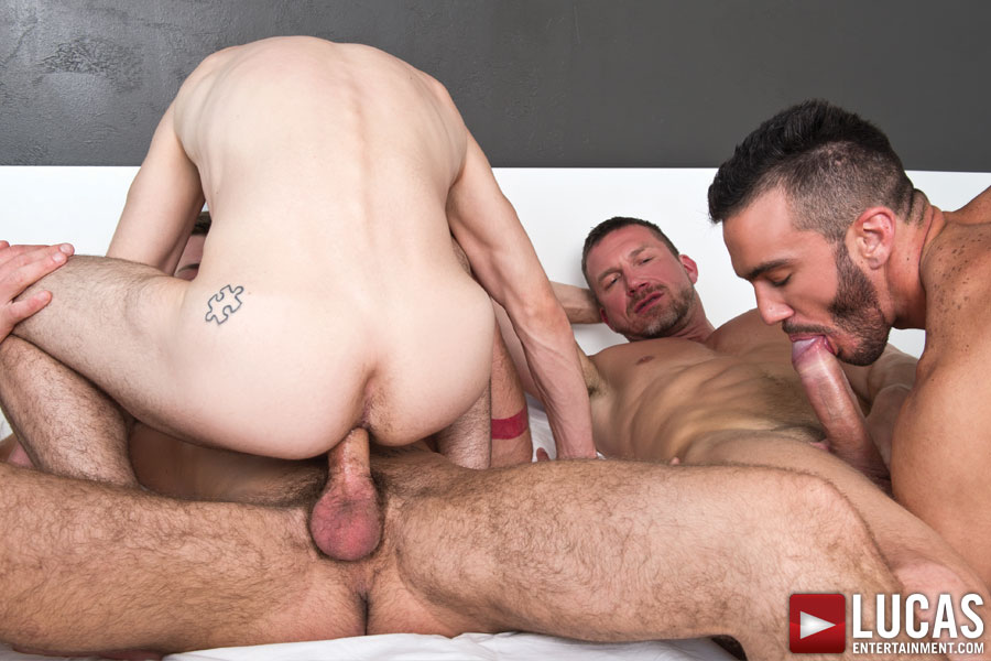 Tomas Brand and Fernando Torres Host a Raw Sex Orgy - Gay Movies - Lucas Entertainment