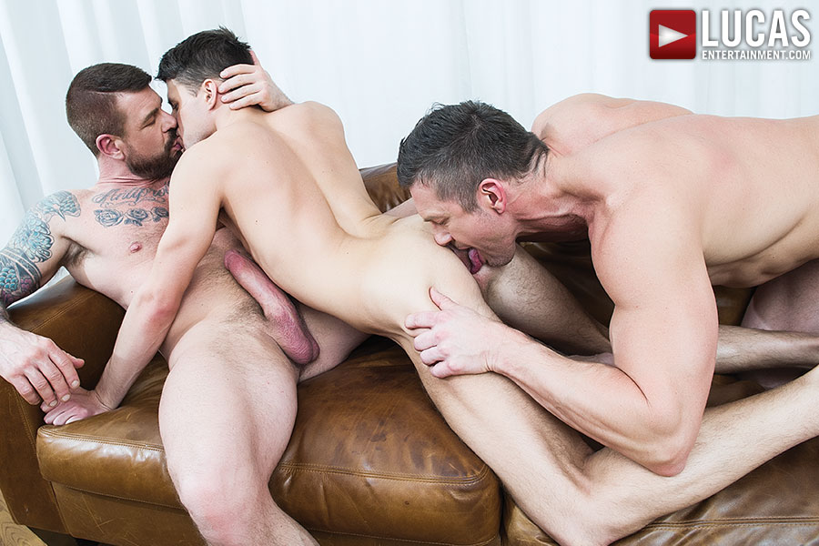 Rocco Steele And Tomas Brand Take Turns Breeding Dmitry Osten - Gay Movies - Lucas Entertainment