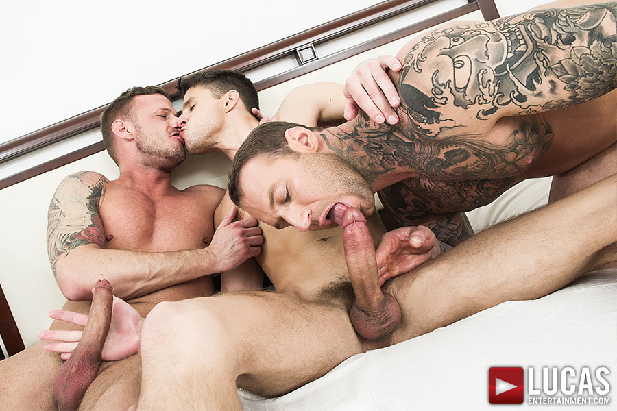 Dylan James And Logan Rogue Double Team Dmitry Osten - Gay Movies - Lucas Entertainment