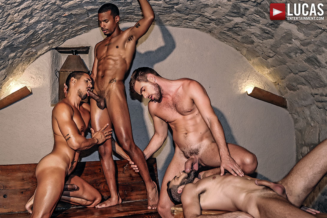 Zander Craze, Jacen Zhu, Wolf Rayet, Ibrahim Moreno - Rough Double Penetration - Gay Movies - Lucas Entertainment