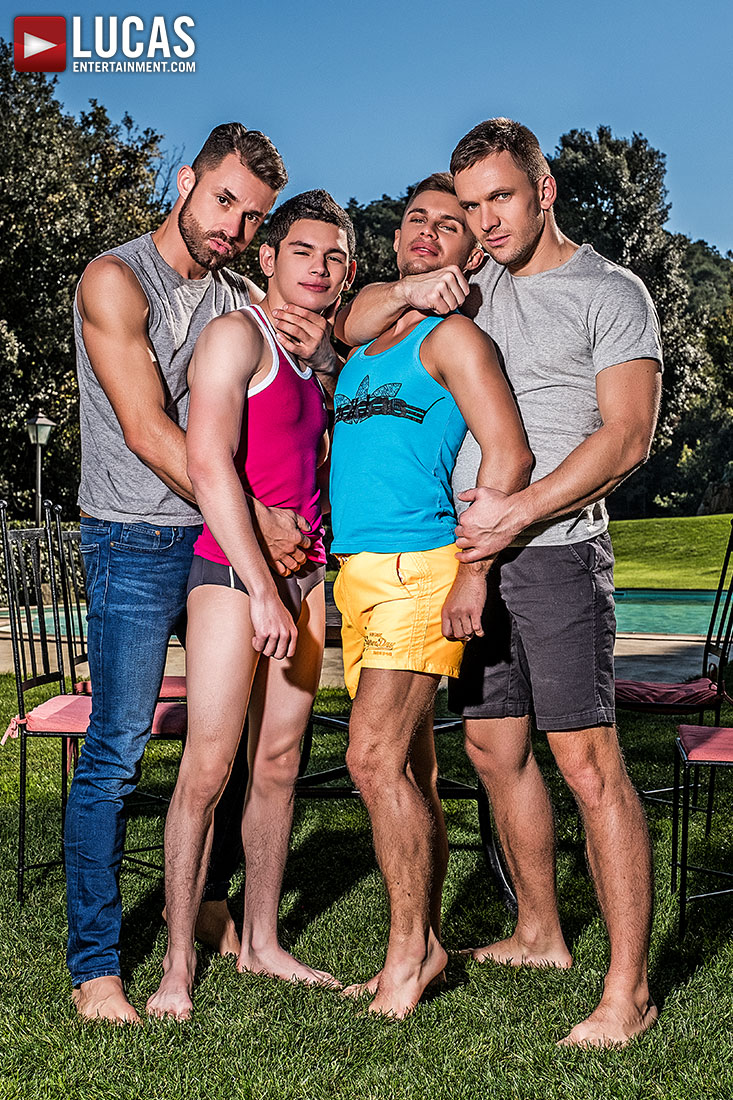 Klim Gromov and Ricky Verez Bottom for James Castle and Andrey Vic - Gay Movies - Lucas Entertainment