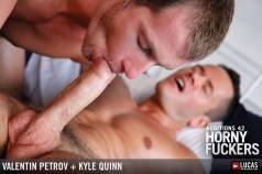 Uncut Hot Guy Valentin Petrov and Blond Kyle Quinn Flip-Fuck - Gay Movies - Lucas Entertainment