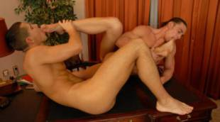 Beefy Boss David Bathory Seduces Paulo Mickey