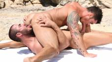 Jessy Ares Tops Mitchell Rocks Ass on the Beach