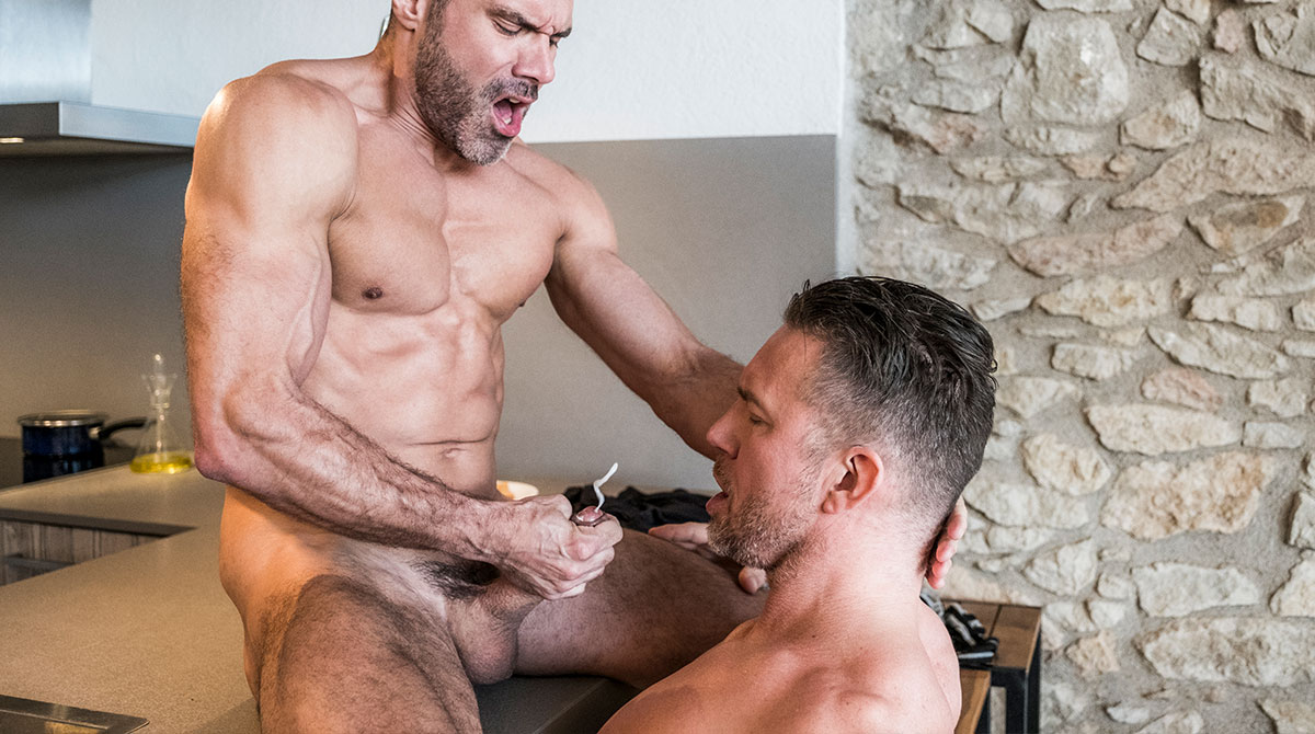 Tomas Brand And Manuel Skye Swallow Each Other's Uncut Cocks