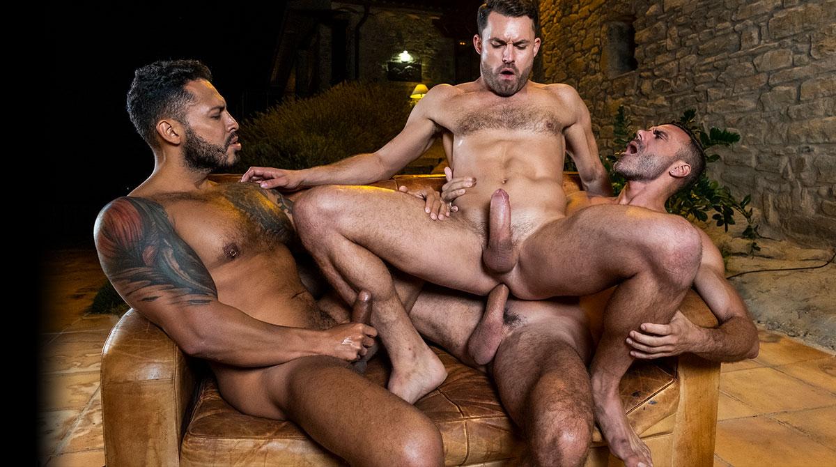 Viktor Rom, James Castle, Manuel Skye | Bareback Threesome