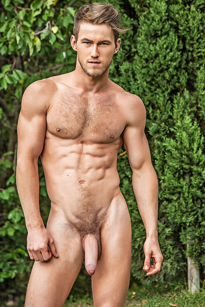 Nude scandinavian male model