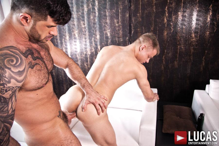 Adam Killian Fucks Joseph Rough's Ass Bareback - Gay Movies - Lucas Entertainment