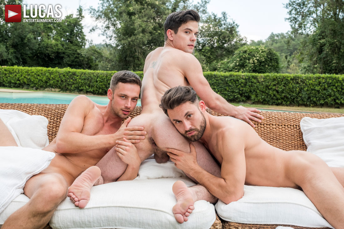 Damon Heart And James Castle Double-Team Dakota Payne - Gay Movies - Lucas Entertainment