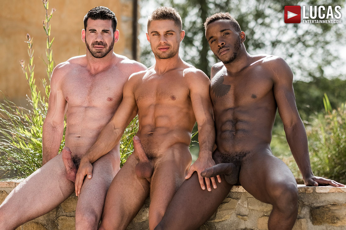 Billy Santoro And Klim Gromov Share Pheonix Fellington's Big Black Cock - Gay Movies - Lucas Entertainment