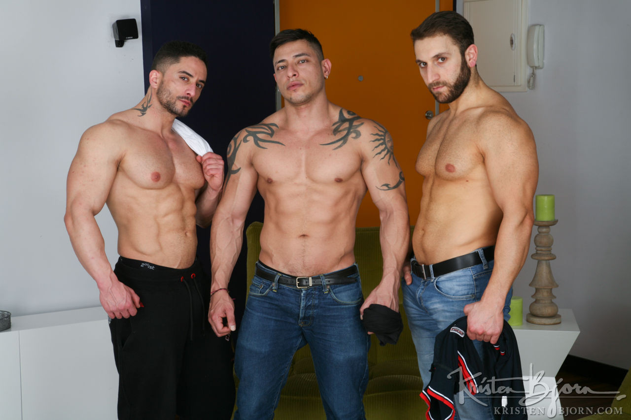 Jalil Jafar, Robin Sanchez, Julio Rey | Threeway Gone Raw - Gay Movies - Lucas Entertainment