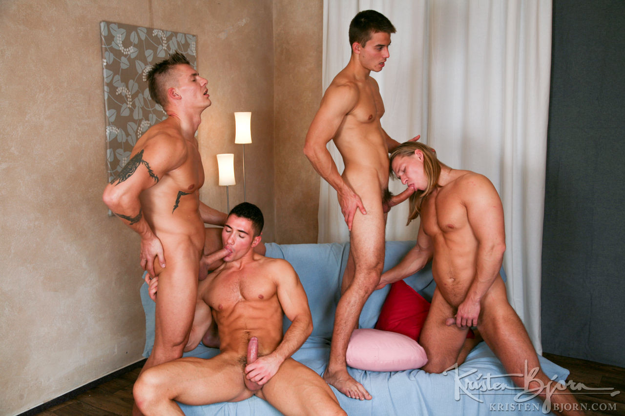 Jan Faust, Mirek Ceslar, David Kadera, Marco Rubi | Bareback Blond Fouresome - Gay Movies - Lucas Entertainment