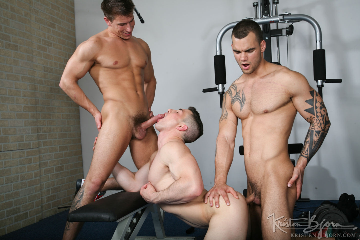 Marco Rubi, Ivo Kerk, Adam Rupert | Raw Threesome - Gay Movies - Lucas Entertainment