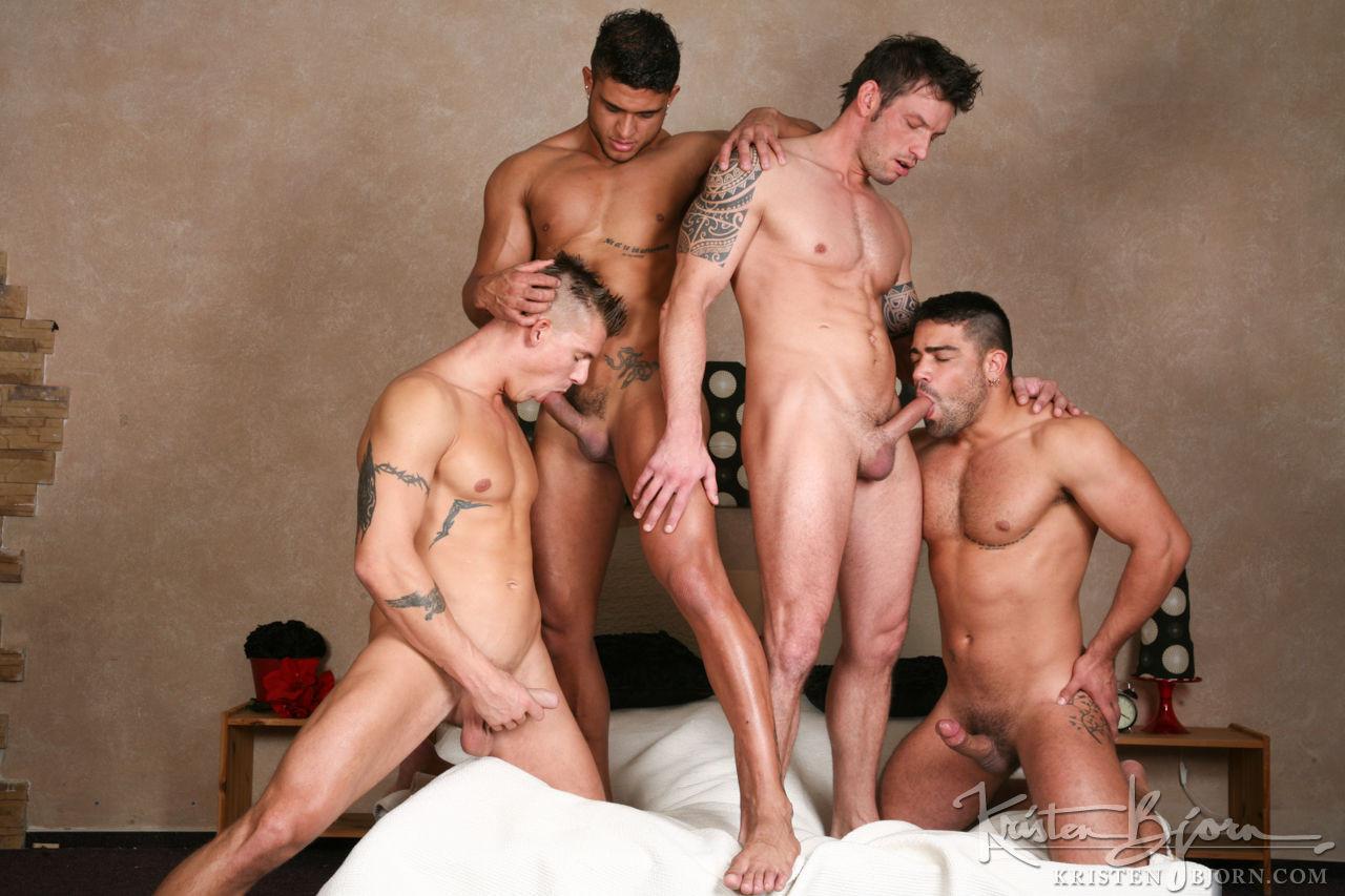 Rado Zuska, Mirek Ceslar, Wagner Vittoria, Diego Lauzen | Raw Four-Way Fuck - Gay Movies - Lucas Entertainment
