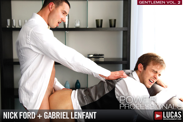 Boardroom Buds Nick Ford and Gabriel Lenfant Flip-Fuck - Gay Movies - Lucas Entertainment