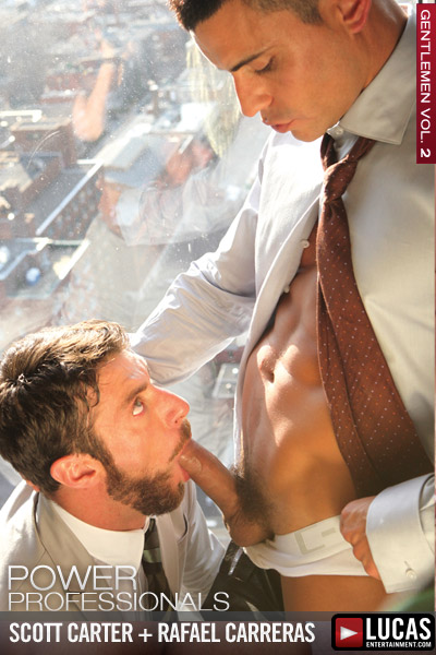 Suited Rafael Carreras Pile-Drives Scott Carter - Gay Movies - Lucas Entertainment