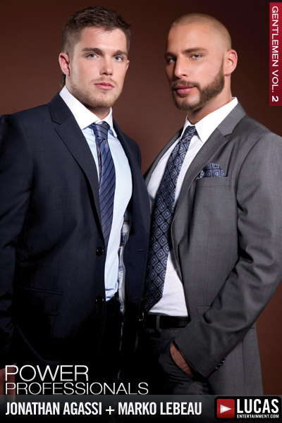 Execs Jonathan Agassi and Marko Lebeau Play in Public - Gay Movies - Lucas Entertainment