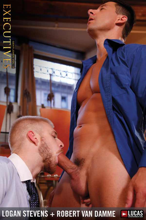 Logan Stevens Rides Businessman Robert Van Damme