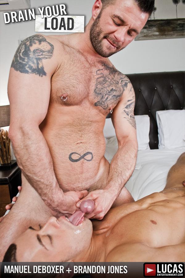 Manuel DeBoxer Pounds Brandon Jones - Gay Movies - Lucas Entertainment