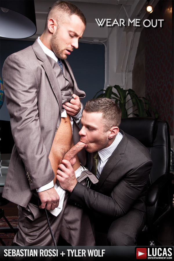 Tyler Wolf Services His Boss Sebastian Rossi - Gay Movies - Lucas Entertainment