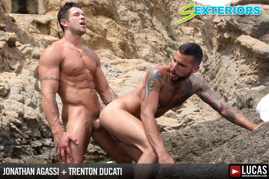 Jonathan Agassi and Trenton Ducati Flip-Fuck in a Lagoon - Gay Movies - Lucas Entertainment