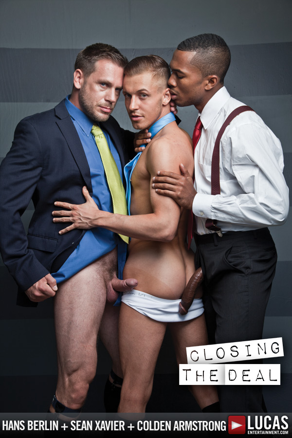 Colden Armstrong Takes Two Mouthfuls of Cum from His Bosses - Gay Movies - Lucas Entertainment