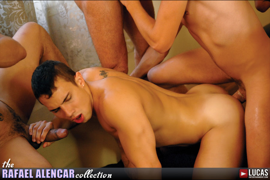 Rafael Alencar and Michael Lucas Lead a Cum-Filled Parisian Orgy - Gay Movies - Lucas Entertainment
