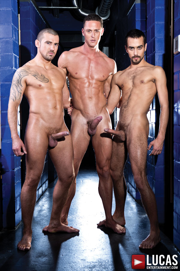 Fostter Riviera, Ivan Gregory, and Marco Sessions Fuck Raw - Gay Movies - Lucas Entertainment
