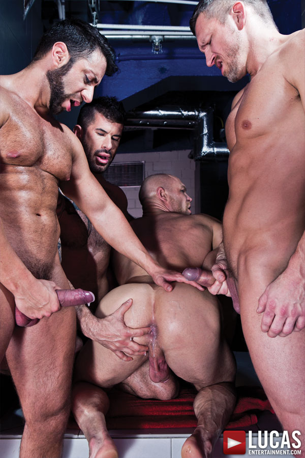 Adam Killian Leads a Nine-Man Bareback Orgy - Gay Movies - Lucas Entertainment