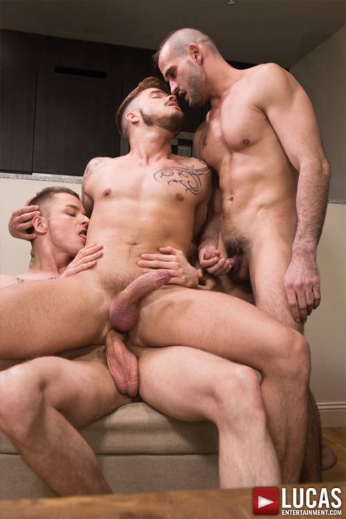 Mike Tiger Takes Raw Cock from Fabio Lopez and Raff Owen - Gay Movies - Lucas Entertainment