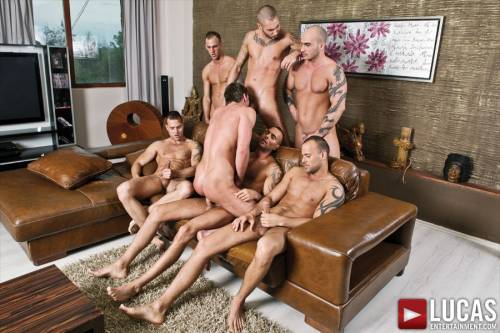 Toby Dutch Gets Fucked in a Seven-Man Bareback Gang Bang - Gay Movies - Lucas Entertainment