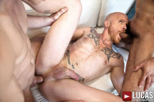 Comrad Blu Fucks Raw with Mikoah Kan and Brock Rustin - Gay Movies - Lucas Entertainment