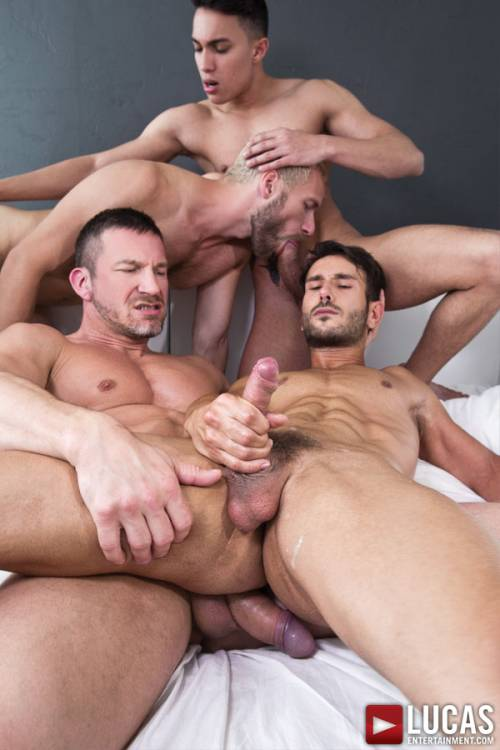 Tomas Brand Bottoms for Fabio Lopez in His Second Bareback Sex Party - Gay Movies - Lucas Entertainment