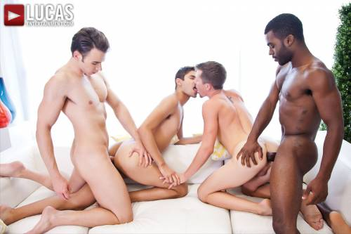Addison Graham, Taye Knight, Andrew Markus, and Shawn Andrews | Raw Foursome - Gay Movies - Lucas Entertainment