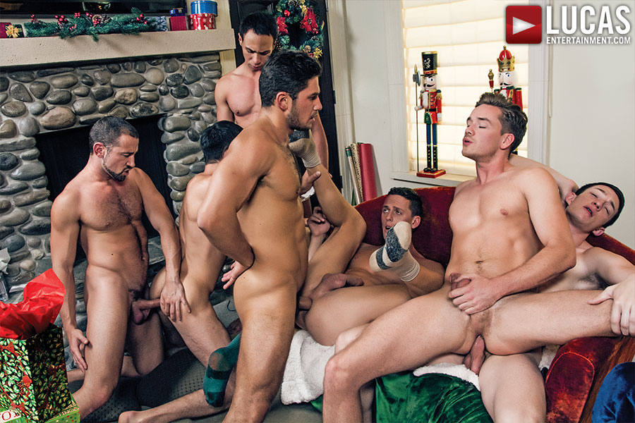 A Very Merry Bareback Christmas  Gay Porn Movies  Lucas -8597