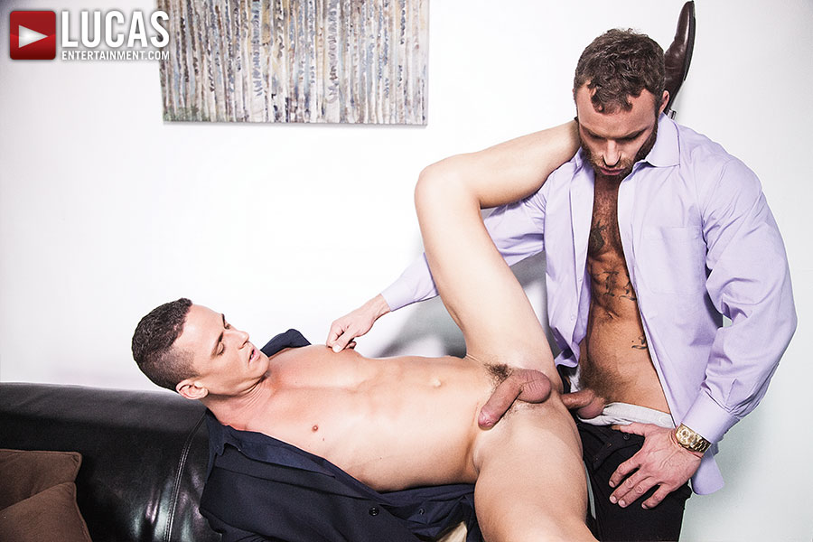 Derek Parker Pounds His Subordinate Ivan Gregory In The Ass Raw - Gay Movies - Lucas Entertainment