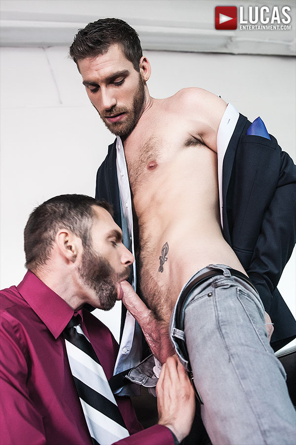 Corbin Riley And CT Hunter Fuck Raw In Suits - Gay Movies - Lucas Entertainment