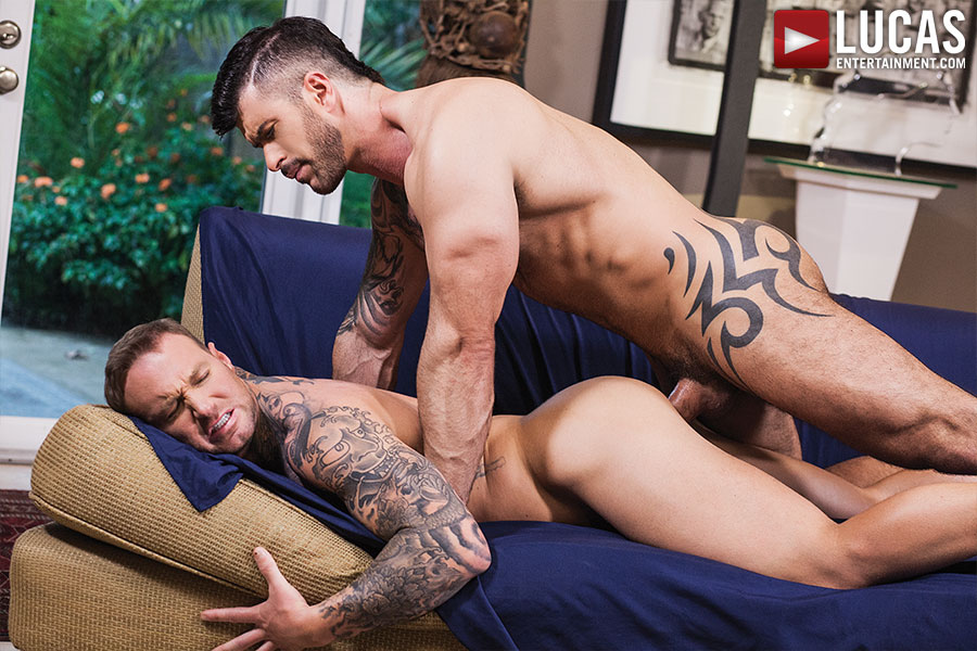 Adam Killian Takes A Load From Dylan James - Gay Movies - Lucas Entertainment