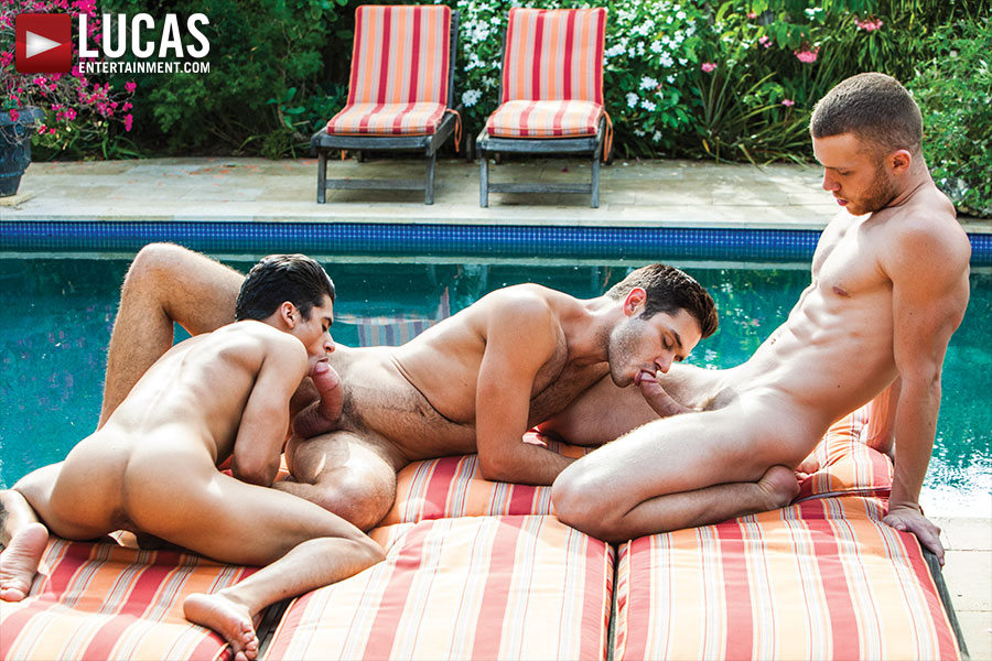 Jake Andrews And Leo Alexander Take Turns On Armond Rizzo - Gay Movies - Lucas Entertainment