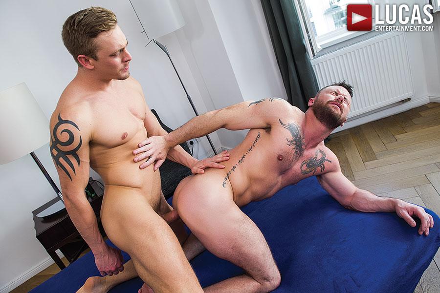 Sergeant Miles Takes Michael Lachlan's Uncut Aussie Cock - Gay Movies - Lucas Entertainment
