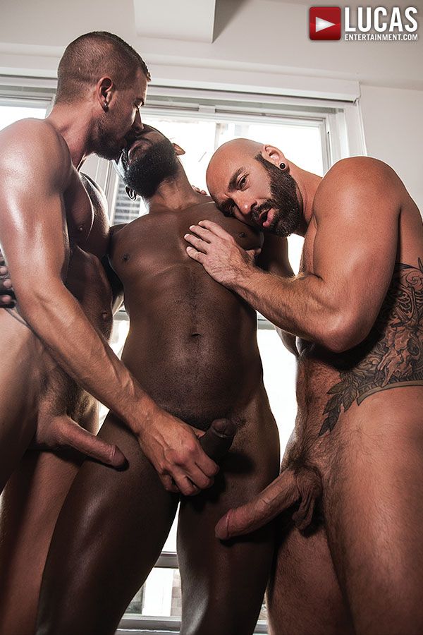 Rod Beckmann, Drew Sebastian, Dolf Dietrich - Interracial Bareback Threesome - Gay Movies - Lucas Entertainment