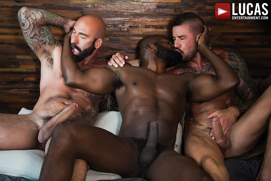 Bareback threesome gay free