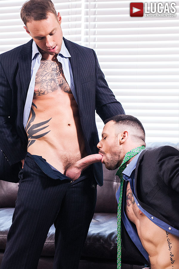 Sergeant Miles Gags On Dylan James' Nine-Inch Cock - Gay Movies - Lucas Entertainment