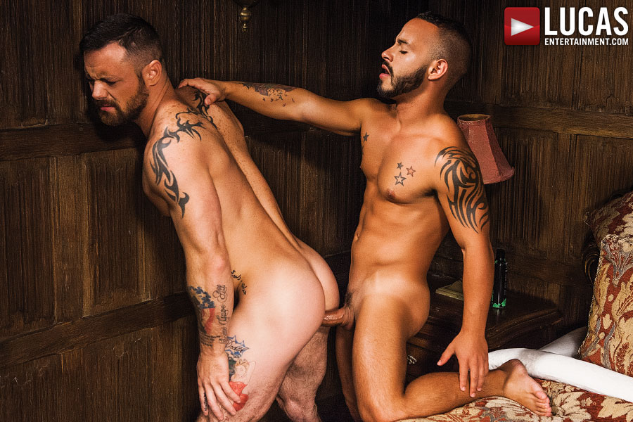 Rafael Lords And Sergeant Miles Suck And Fuck Bareback - Gay Movies - Lucas Entertainment