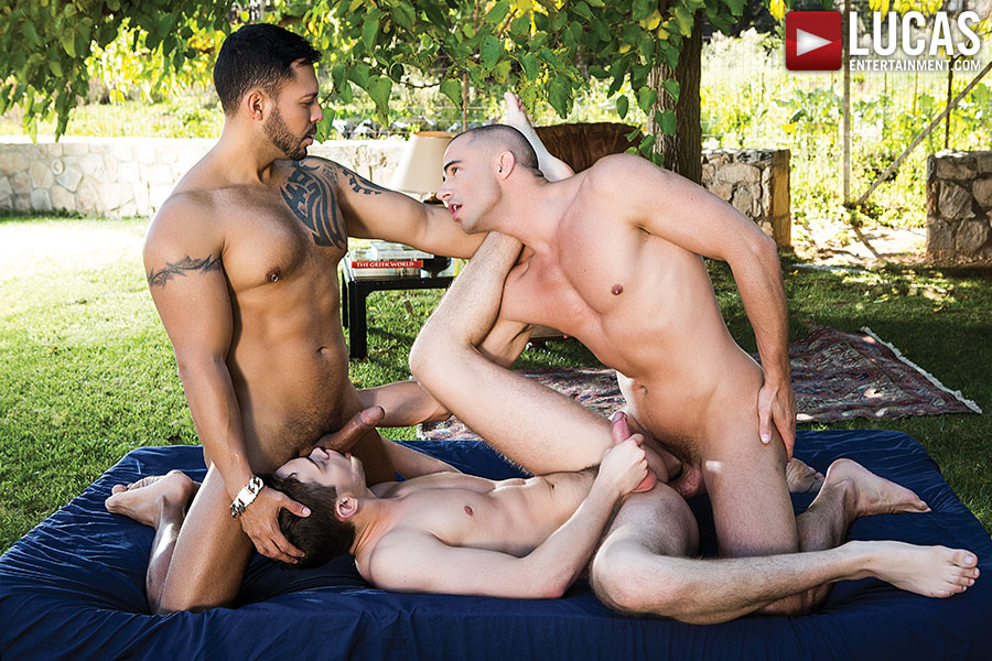 Viktor Rom And Diego Summers Double-Team Dylan O'Hardy - Gay Movies - Lucas Entertainment