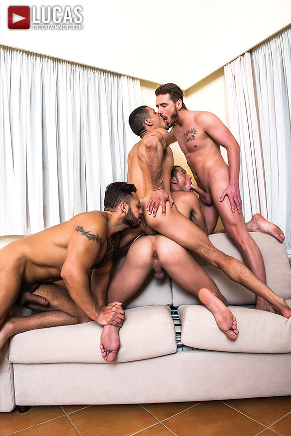 Ibrahim Moreno Takes On Three Uncut Cocks - Gay Movies - Lucas Entertainment